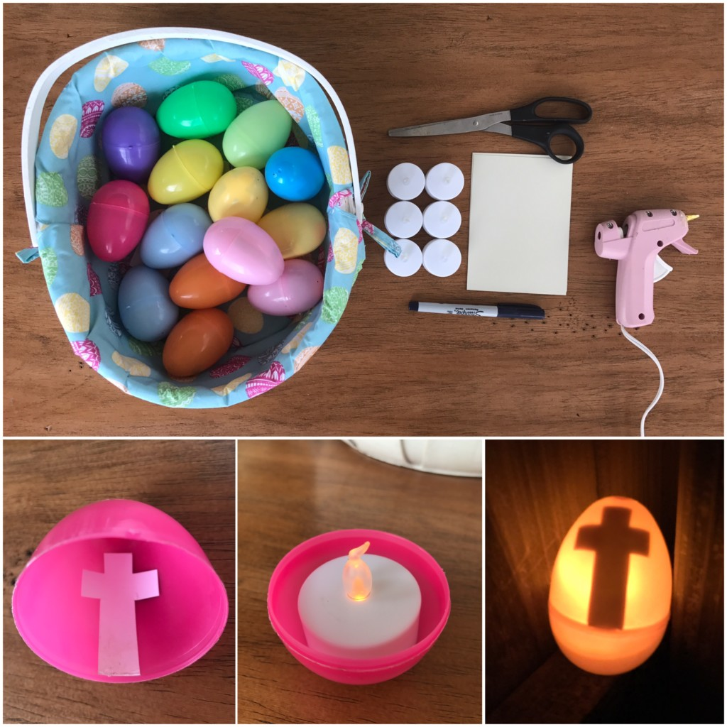 Easter light-up egg hunt supplies and directions