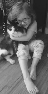 Toddler and beloved cat - art of transferrence