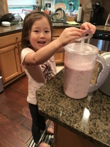 Karis makes Aunt Jenny's strawberry ice cream