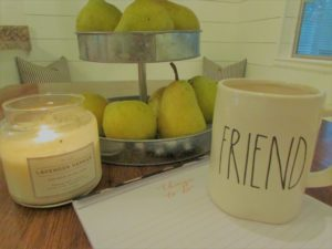 stay-at-home mom survival tips - chai and scented candles bring calmness