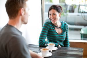 at home date nights for busy parents - coffee and cards or a board game