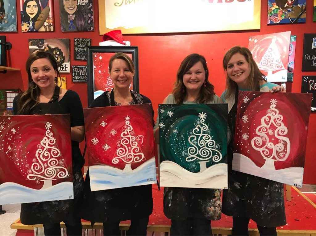 Moms' Night Out in Birmingham - Painting with a Twist