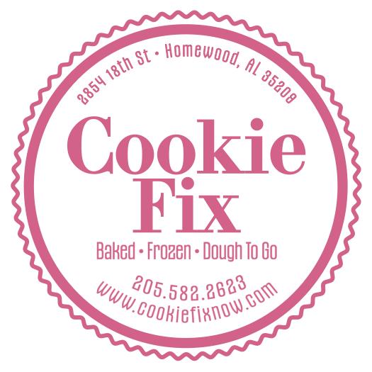 Birmingham Moms Blog 1st Birthday - Cookie Fix Logo