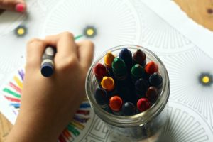 Choosing a daycare - coloring
