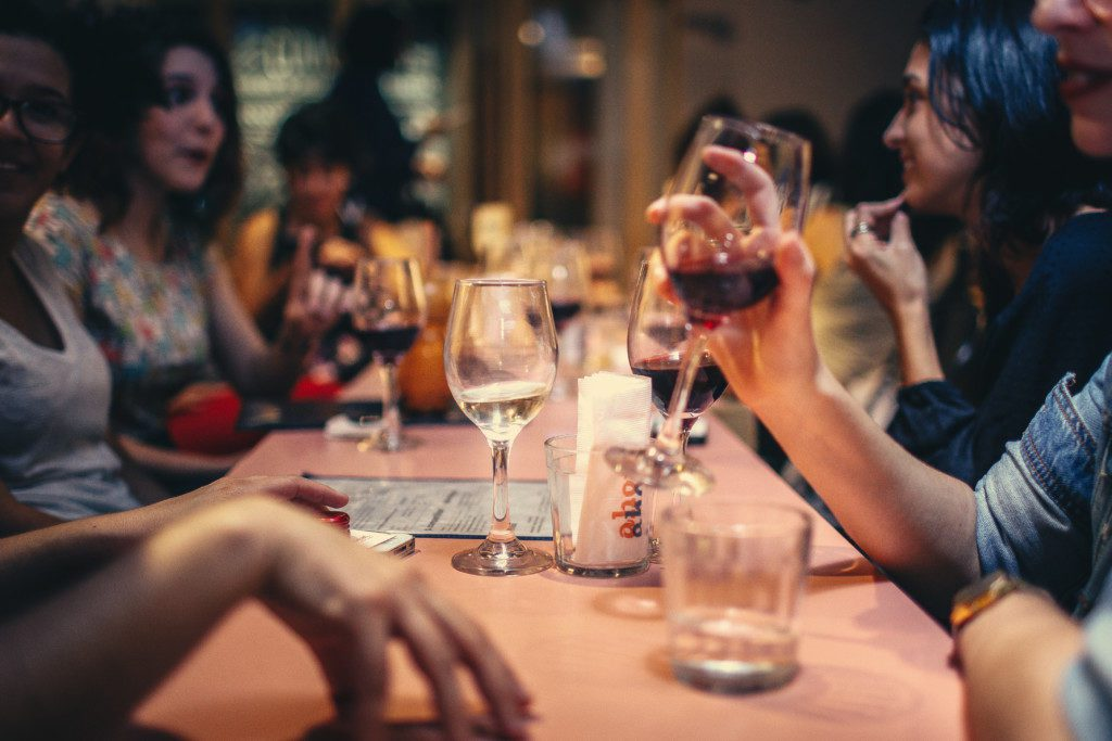 Moms' Night Out in Birmingham - Wine blending Grand Bohemian