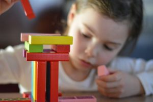 Choosing a daycare - building with blocks