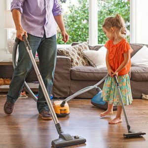 Chores for kids - vacuuming