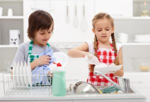 Chores for kids - washing dishes