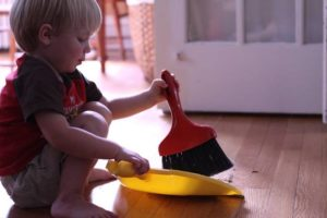 Chores for kids - toddlers can help