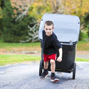 Chores for kids - taking out the trash