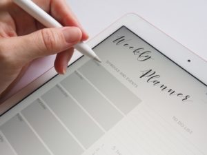 time-saving tips for busy mornings - use a planner!