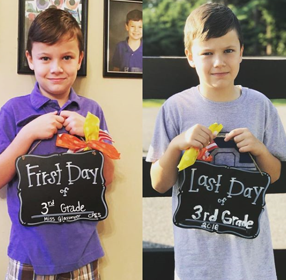Back-to-school - document first & last days of school!