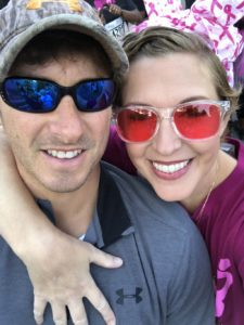 Race for the Cure - supportive husband