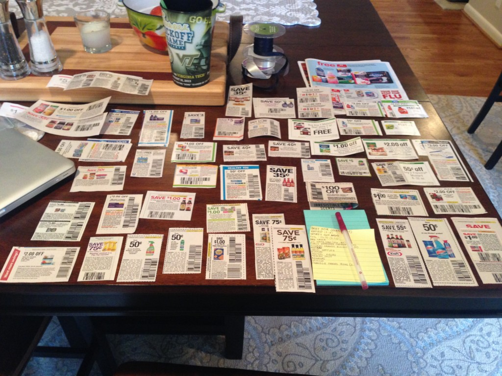 Grocery budgeting - organization of coupons is helpful.