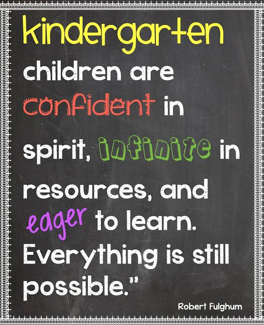 ready for kindergarten - it's a magical time