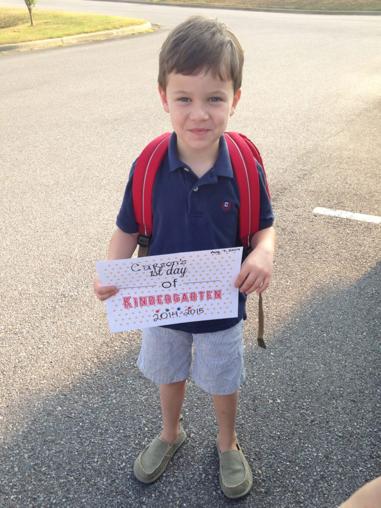 ready for kindergarten - take lots of pictures!