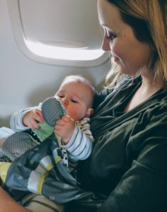 Tips for flying with a baby - be prepared, be comfortable, be flexible