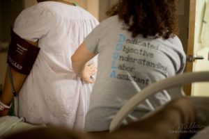 Birmingham volunteer doula supporting a birth