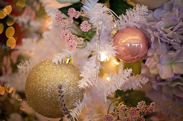 holiday traditions - decorating a Christmas tree