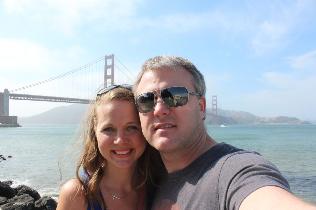 Traveling with my husband on a trip to San Francisco