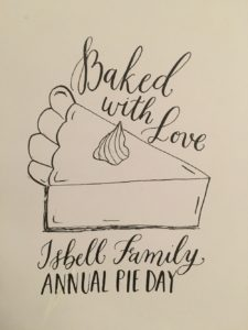 Pie Day (Pi Day) - an Isbell Family tradition