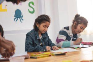 Homeschooling during the coronavirus quarantine.