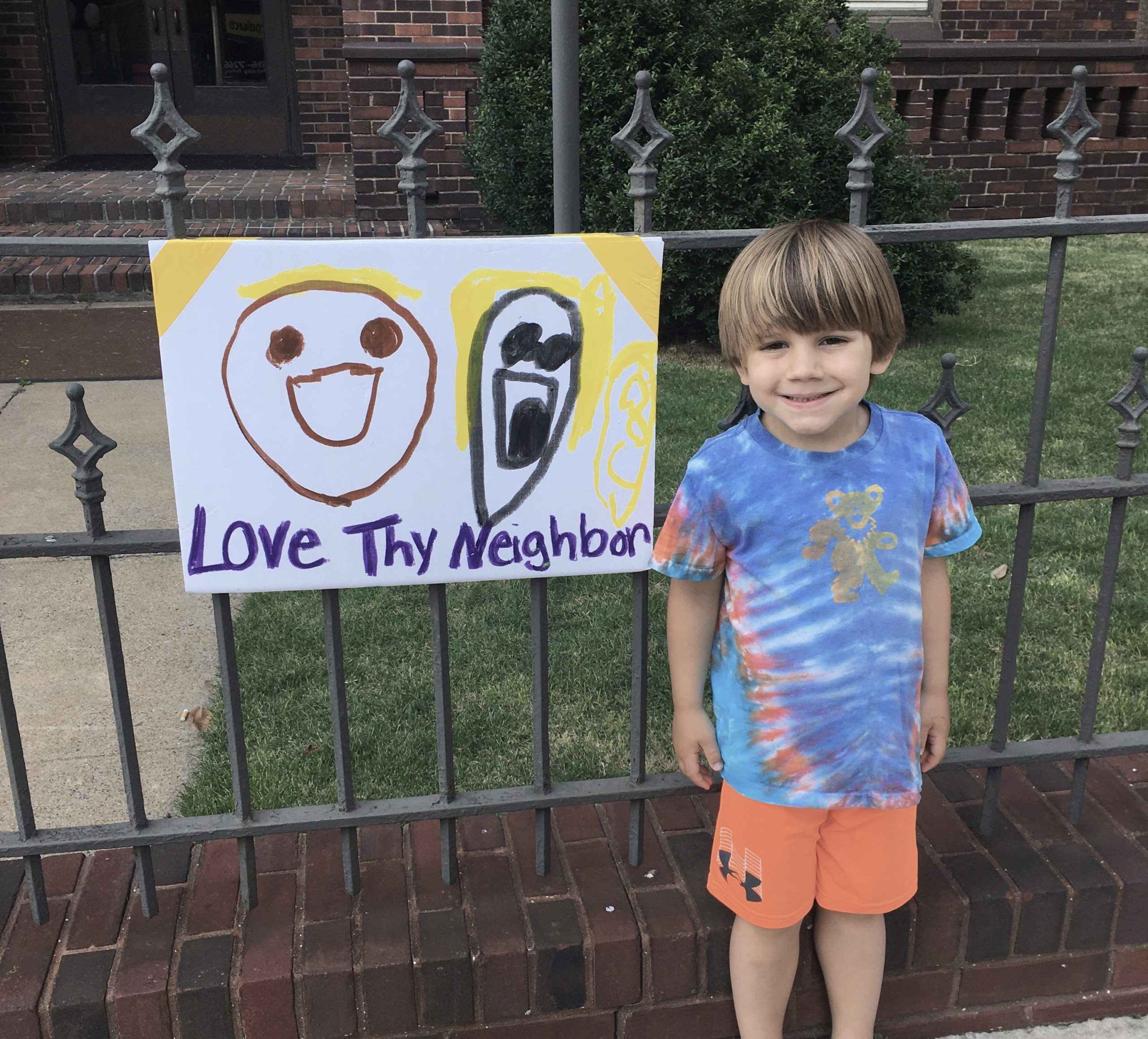 teaching our kids to celebrate diversity - protest signs