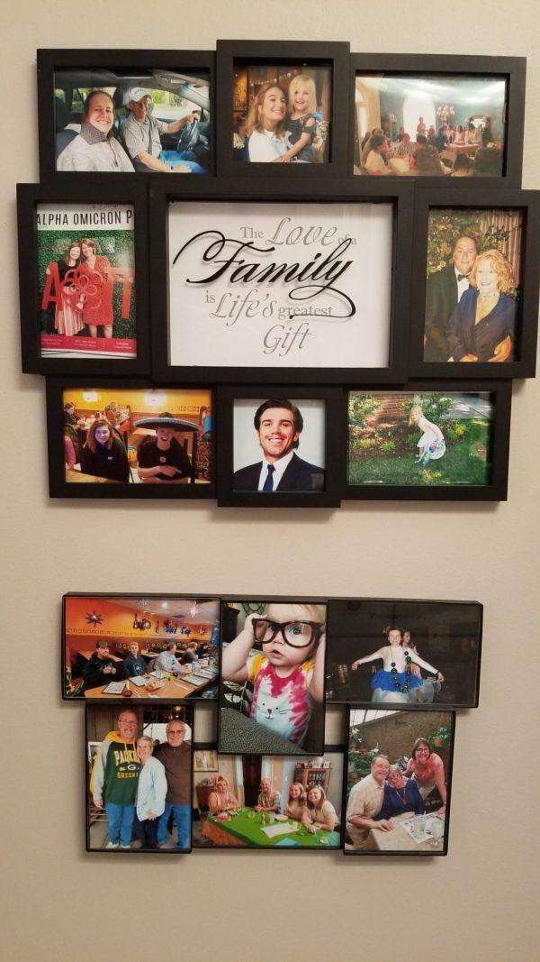 Creating keepsakes - even non-crafty moms can make a photo collage.