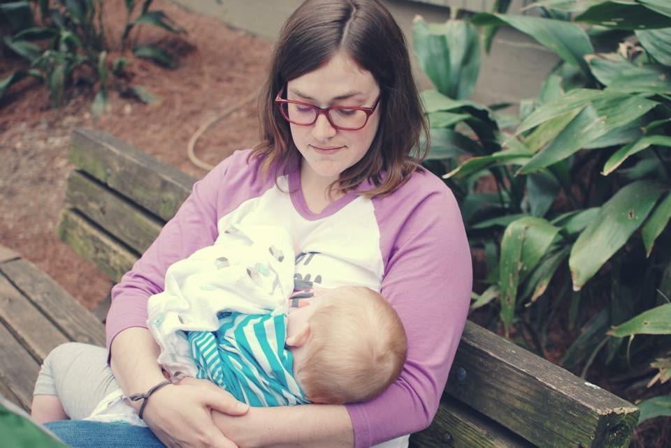 breastfeeding my first daughter