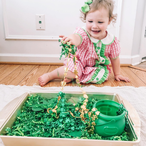 Sensory bin play - follow learning themes, such as holidays