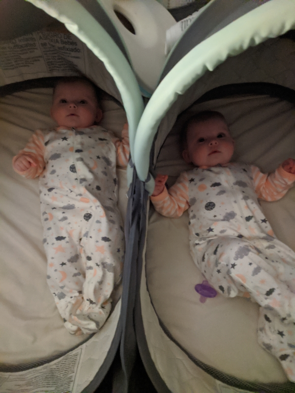 First year with twins - Double Bassinet was a lifesaver!