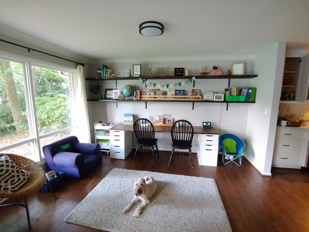 Create a home learning space on a budget