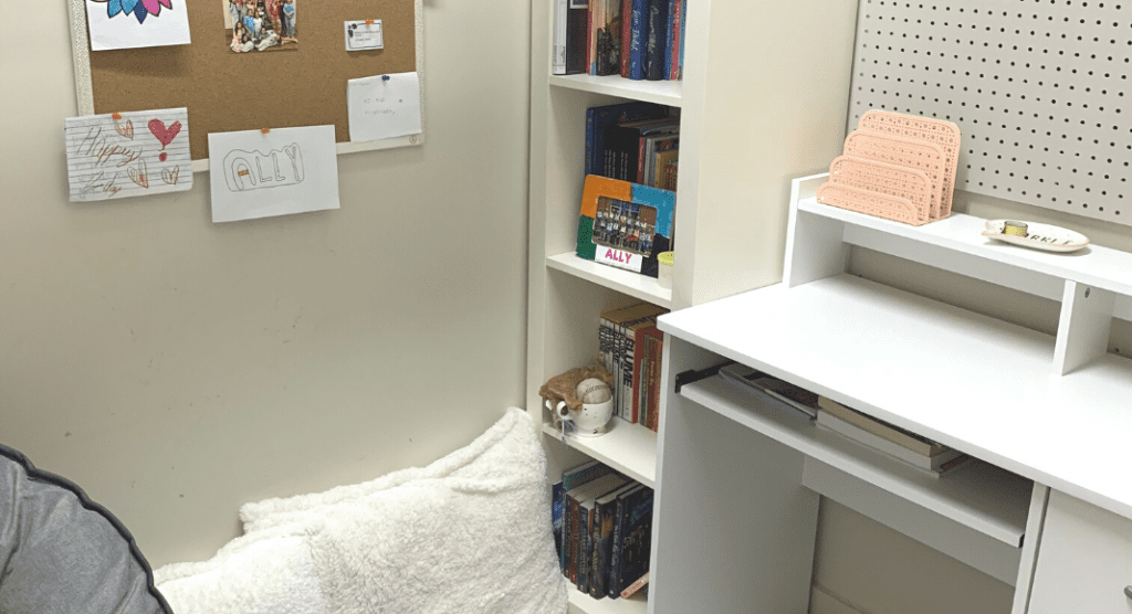 Convert a closet into a cozy reading nook - repurpose space for kids