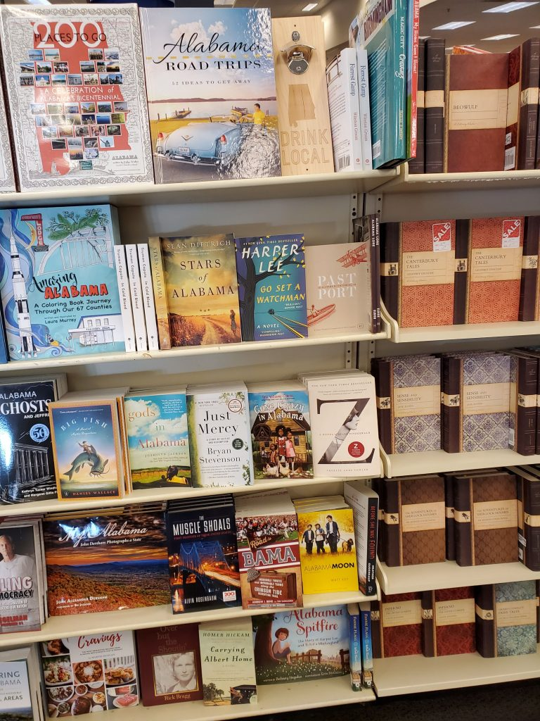 Alabama book recommendations - local book store display
