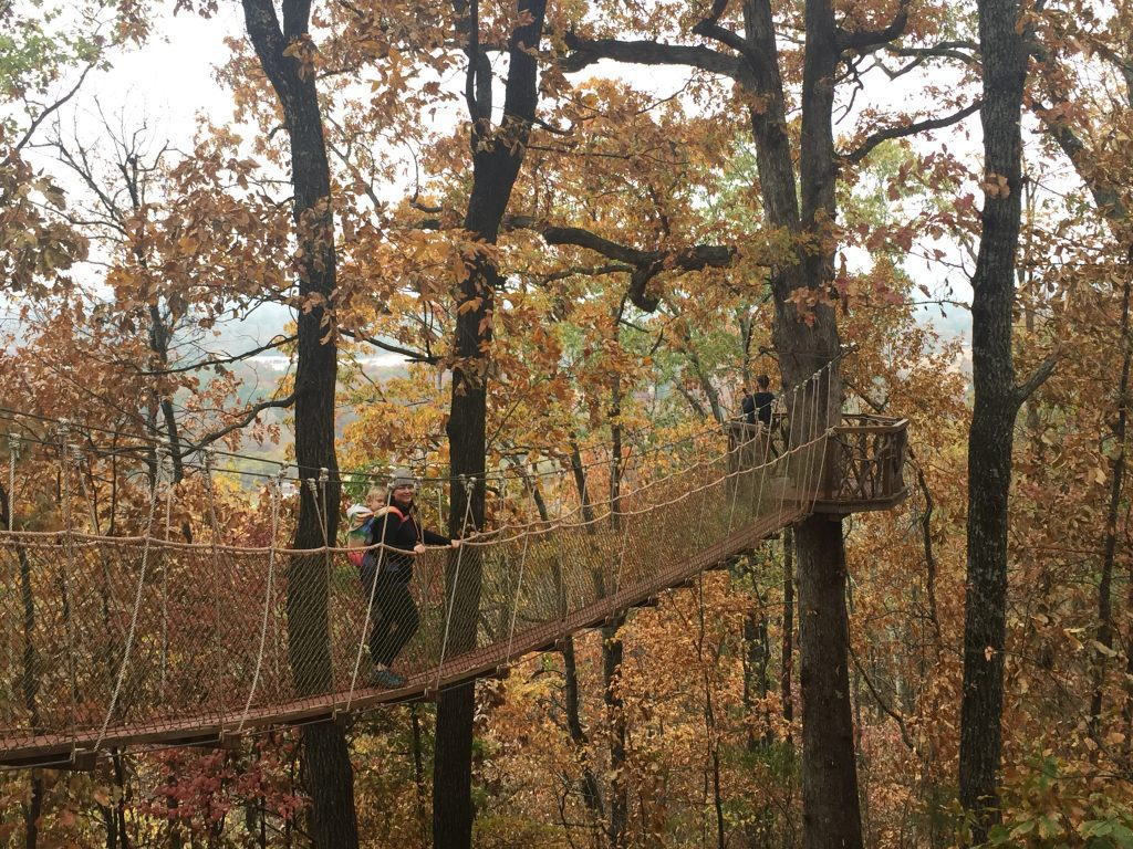 kid-friendly hiking trails in birmingham - suspension bridges