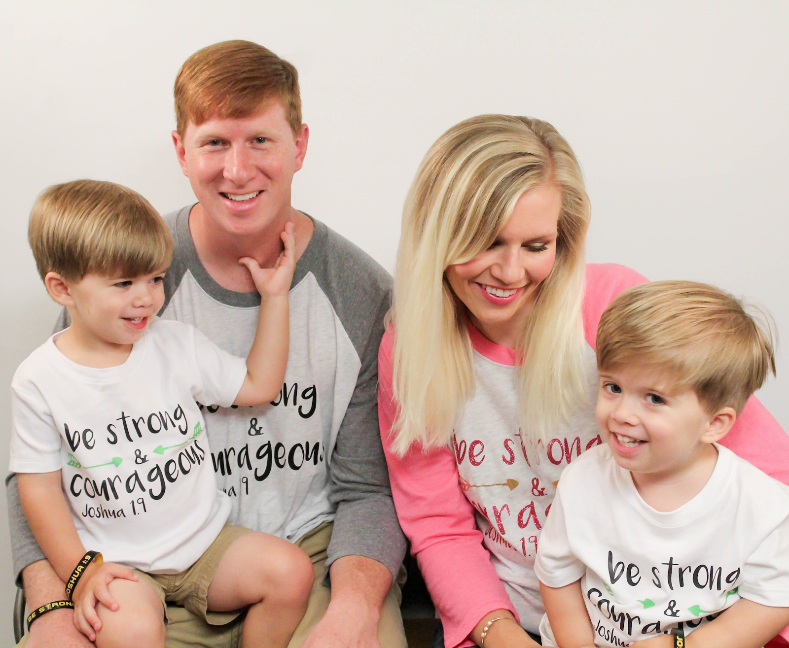 "Spina bifida - The Butler family motto is ""Be strong and courageous."""