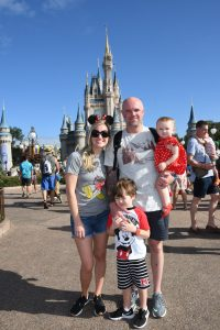 My family at Magic Kingdom in Walt Disney World