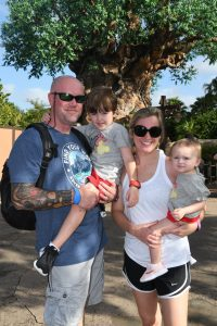 My family at Animal Kingdom in Walt Disney World