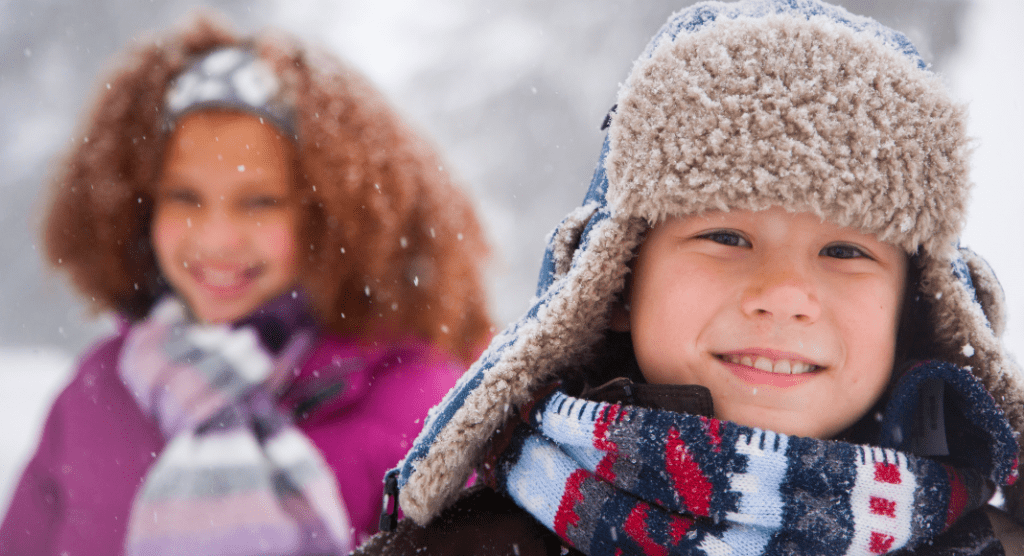 Dressing kids for cold weather - it's a challenge at all stages!