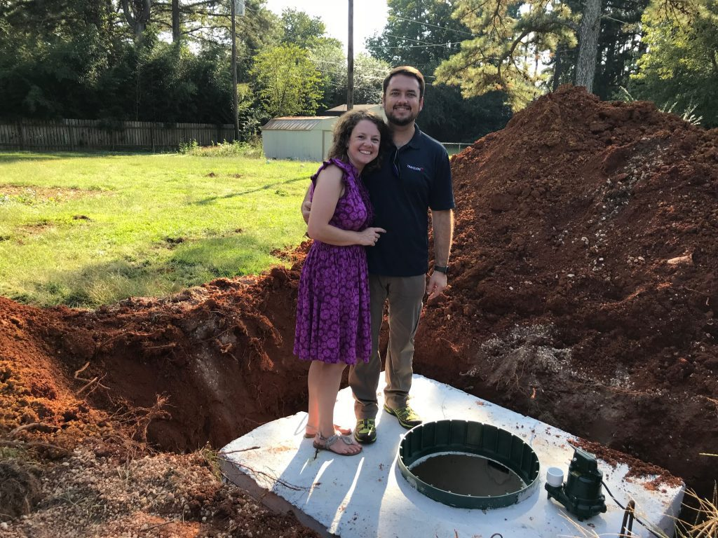 thoughts on keeping a home - Brittany and her husband got a new septic tank for their 10-year anniversary!