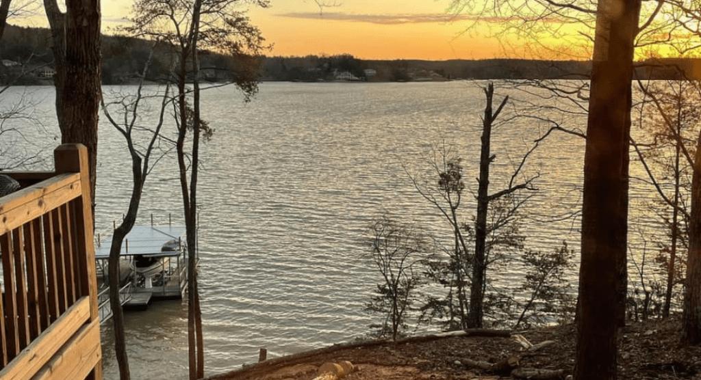 Sunrise at Lewis Smith Lake in Bremen, AL